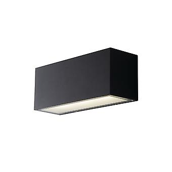 Fan Europe Twin - Outdoor Integrated LED Up Down Wall Light, Charcoal, Transparent, IP54, 4000K