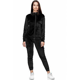 Women Basic Nicki Suit Sports Two-Piece Set Sweat Jogger Velour Comfort Homewear