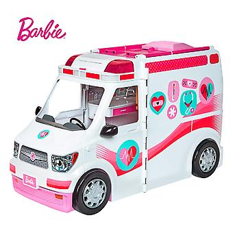 Barbie frm19 careers care clinic ambulance, play, role model, lights and sounds, lots of accessories