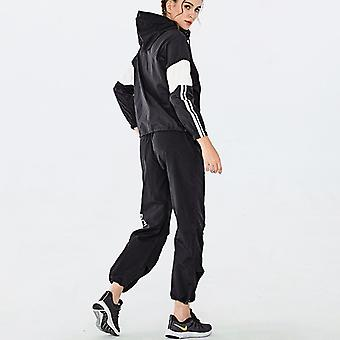 Women Casual 2 Piece Outfit Long Sleeve Zip Up Jacket with Pockets + Pants Athletic Clothing Set