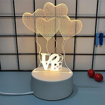 Creative Night Light 3d Romantic Confession Girl Gift Net Red Night Light Manufacturer suporta logotipo personalizado