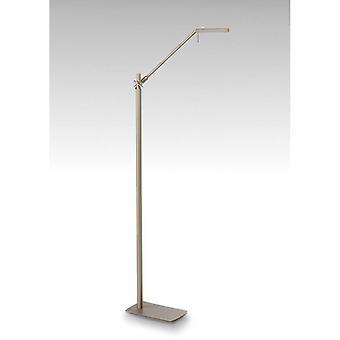 Floor Lamp Phuket 1 Bulb 7w Led 3000k, 600lm, Satin Nickel