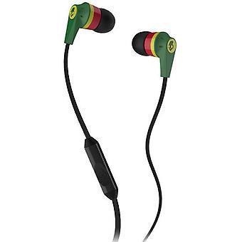 Skullcandy Ink'd 2.0 - In-Ear Earbuds with Microphone - Rasta