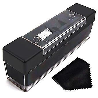 Kit de limpeza de veludo limpador de escova para discos de vinil e caneta