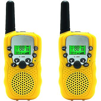 2-pack Kids Walkie Talkie Two Ways Radio Toy 3 Miles Range 22 Channels