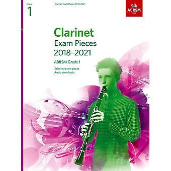Peças do Exame Clarinete 2018-2021, Abrsm Grade 1 Paperback