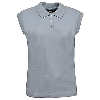 Фила женщины короткий рукав Поло Топ футболка случайный тройник синий U86498 450 A25D