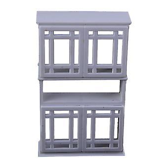 5pcs Dollhouse Showcase Mini Furniture Living Room Decoration Display Cabinet
