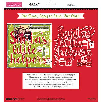 Bella BLVD Santa Squad Little Helpers 12x12 Inch Cut Outs
