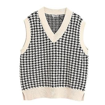 Fashion Knitted Pullovers Loose Vintage Vest Chic Loose Sweater Tops