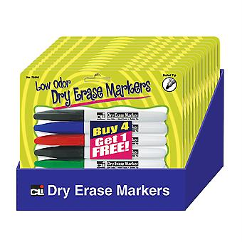 Pocket Dry Erase Markers, Low Odor, Buy 4 Get 1 Free Pocket Dry Erase Marker, Asst Clrs