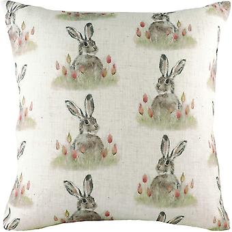 Evans Lichfield Hedgerow Hare Repeat Print Cushion Cover