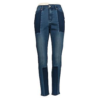Martha Stewart Mujeres's Jeans Seamed Panel 5 Bolsillo Tobillo Azul A351150