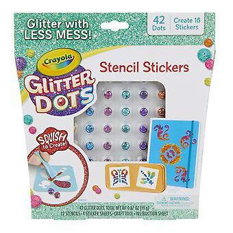 Pochoirs d'autocollant glitter dots