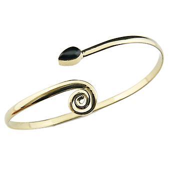 Armring armband Mässing Golden Onyx Svart (932-05-016-03)