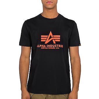 Alpha Industries Men's T-Shirt Basic Neon Print