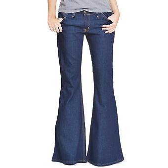 Wide Bellbottom Flared Jeans - Indigo