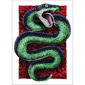 Unorthodox Collective Geometric Snake Mini Framed Poster