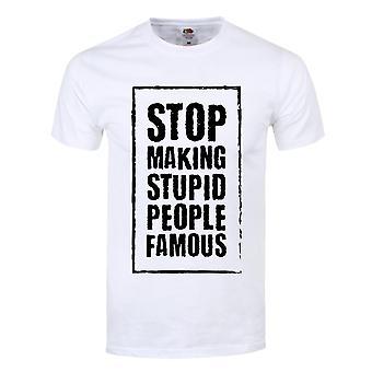 Grindstore Mens stop Making Stupid People Berühmte T-Shirt