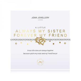 مجوهرات جوما ليتل دائما أختي إلى الأبد صديقي الفضة 17.5cm تمتد سوار 3795