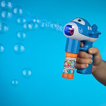 Fun kids musical aircraft bubble gun blue