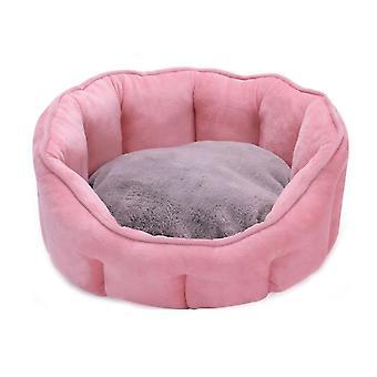 Puha gyapjú kisállat kutya macska ágy meleg dot ágy ház plüss kényelmes fészek mat pad