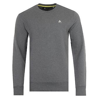 Moose Knuckles Greyfield Cotton Crew Neck Sweatshirt - Charcoal Grey