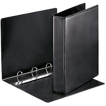 Esselte 49763 Essentials Presentation Binder 4 D Ring 40mm Capacity Black