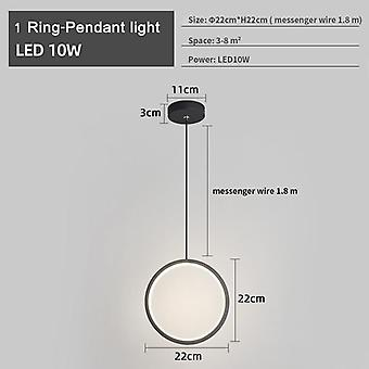 Modern Led Chandelier With Remote Control For Living Room