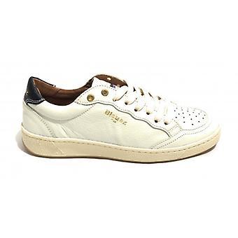 Men's Shoes Blauer Sneaker Mod. Murray Leather White Color Us20bu01