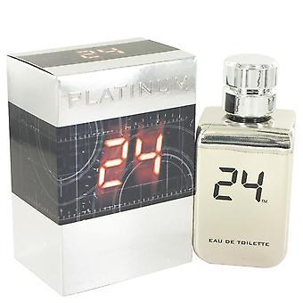 24 Platinum The Fragrance Eau De Toilette Spray By Scentstory 3.4 oz Eau De Toilette Spray