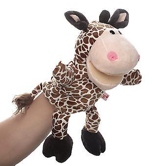 Giraff handdockor djurleksak för fantasifullt spel, berättande, undervisning, rollspel