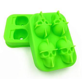 Isform Dödskalle silikon Grön