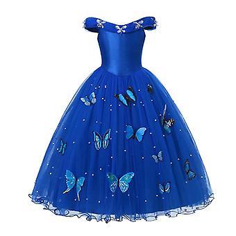 Φόρεμα πριγκήπισσας, Φορέματα συμβαλλόμενων μερών φορεμάτων Elsa Anna κοστουμιών Παιδικά φορέματα