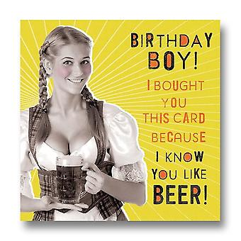 Pigment Nutty Neon - Birthday Boy Likes Beer Card Ln881a