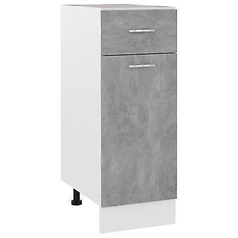 Schublade Bodenschrank Beton Grau 30x46x81,5 cm Spanplatte