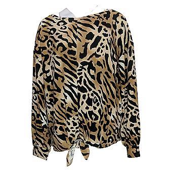 G By Giuliana Women's Top Hacci Knit Tie-Front Beige 729360