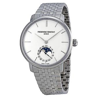 Frederique Constant Slimline Moonphase Silver Dial Stainless Steel Men's Watch FC-705S4S6B