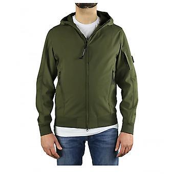 C.p. Company Shell R Military Green Hooded Jacket