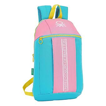 حقيبة الطفل بينيتون لون كتلة الأصفر الوردي الفيروز