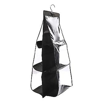 Hanging Storage with 6 Compartments - Black