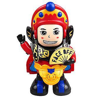 Gezichtsveranderend speelgoed Sichuan Opera Gezichtsveranderende poppen Elektrisch automatisch gezichtsveranderend robotspeelgoed Chinees volkskunstspeelgoed met LED-verlichting