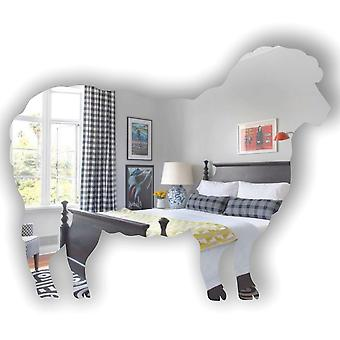Jarda de fazenda ovelhas espelho acrílico