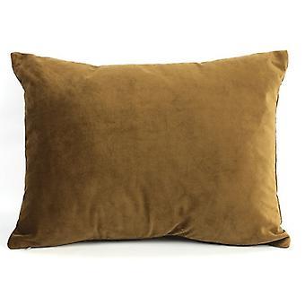 cushion Carola 30 x 40 x 14 cm textile brown