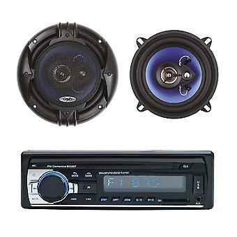 Paketti Radio MP3 auton soitin PNI Clementine 8428BT 4x45w + Koaksiaali auton kaiuttimet PNI HiFi500, 100W, 12,7 cm