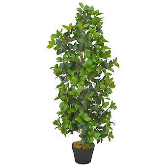vidaXL Keinotekoinen kasvi laakeripuu ruukku vihreä 120 cm
