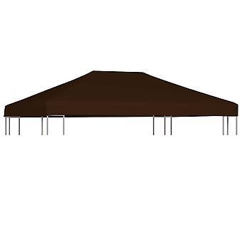 vidaXL pavilion roof 310 g / m2 3x4 m brown