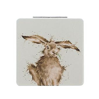Wrendale Designs Compact Mirror 'Hare Brained'
