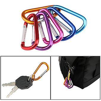 Carabiner Nyckelkedjeklämma, D-ring låskrokar, Aluminium Ryggsäck, Camping,