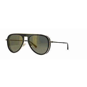 Jimmy Choo Carl/S 807/K1 Black/Brown-Gold Mirror Sunglasses